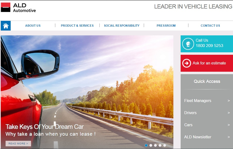 ALD Automotive India Website V2